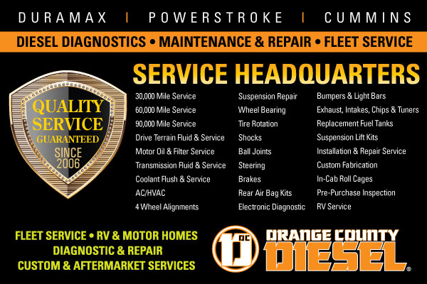 How Can We Serve You at Orange County Diesel